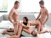Nubile Films – Gina licking jizz off Didos ass