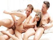 Gina Gerson in hot sexy MMF threesome