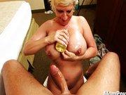 Slutty MILF with big tits enjoys cock