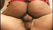 Ebony threesome anal vagina lingerie