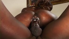 Ebony chick big ass takes it up there