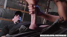 Brazzers – Ebony teen takes big white dick