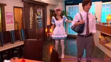 Japanese teenage bukkake beauty as a waitress