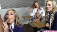 Cute schoolgirls fucked by their teacher