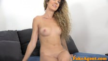 FakeAgent Slim babe fucks in interview