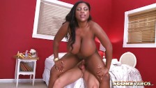 Black girl with big tits fucked hard