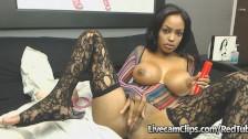 Amazing Hot Busty Ebony Babe Masturbation Cam