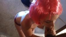Pink Wig Blowjob