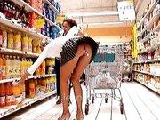 Lexo naughty shopping with big ass dildo